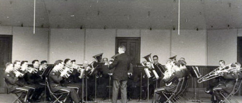 Willie with Elgar Clayton conducting