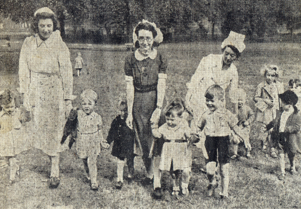 Wellholme Park Nursery - Some Early Staff and Children - c 1942